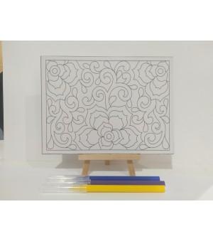 D.I.Y Doodle Set Bunga Ros