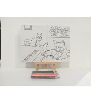 D.I.Y  Doodle Set Kucing