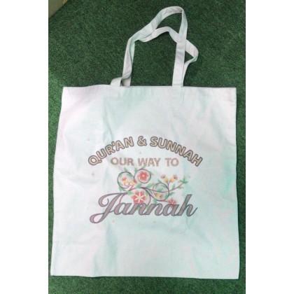 Bag Canvas - Quran Sunnah Way to Jannah