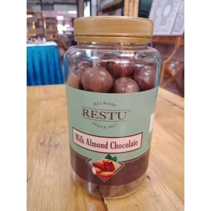 SET RESTU MILK ALMOND CHOCOLATE DAN KURMA MEDJOOL PALESTIN (GRED A)