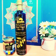 Minyak Zaitun Palestin (500ml) dan Madu Qashmiri: Forest Sidr Honey 100% Pure (250g)