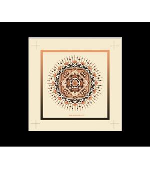 Art Piece Tanda Sinar – Orange Brown
