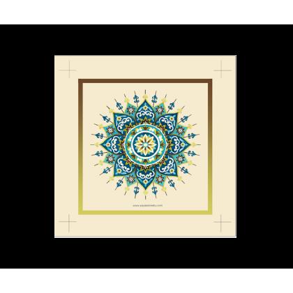 Art Piece Tanda Sinar – Green Blue