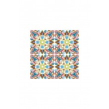 Islamic Heritage Tiles Floral Pattern Design #1