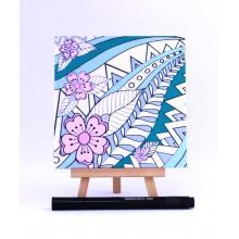 D.I.Y Doodle Art Magnet - Flower