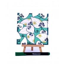 D.I.Y Doodle Art Magnet - Leaf