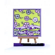 D.I.Y Doodle Art Magnet - Batik 1