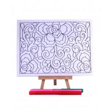 D.I.Y Doodle Art Canvas - Batik 1