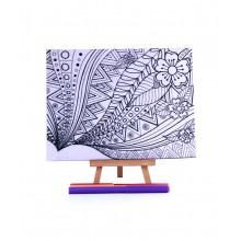 D.I.Y Doodle Art Canvas - Batik 2