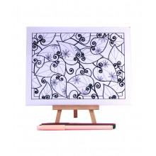 D.I.Y Doodle Art Canvas - Floral