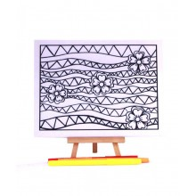 D.I.Y Doodle Art Canvas - Geometric 1