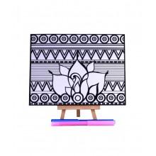 D.I.Y Doodle Art Canvas - Geometric 2